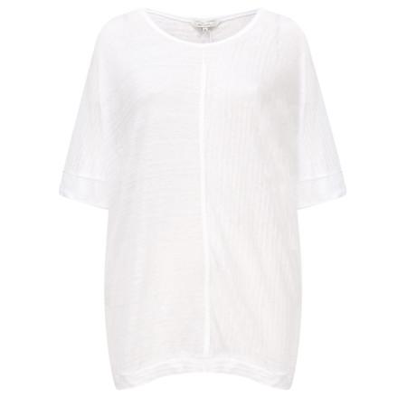 Sandwich Clothing Relaxed Slub Linen Blend T-shirt - White