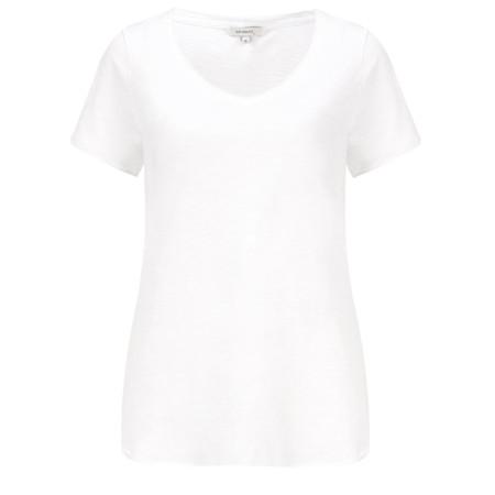 Sandwich Clothing Essential Slub Jersey V Neck T-shirt - White