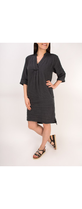 Sandwich Clothing Linen Tunic Dress Almost Black