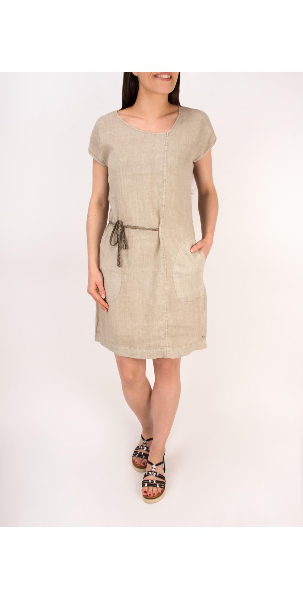 Linen Tie Detail Dress main image