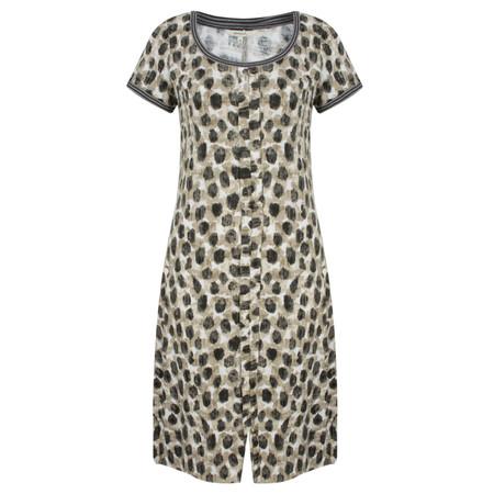 Sandwich Clothing Dot Print Jersey Dress - Beige