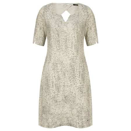 Sandwich Clothing Animal Print Linen Dress - Beige