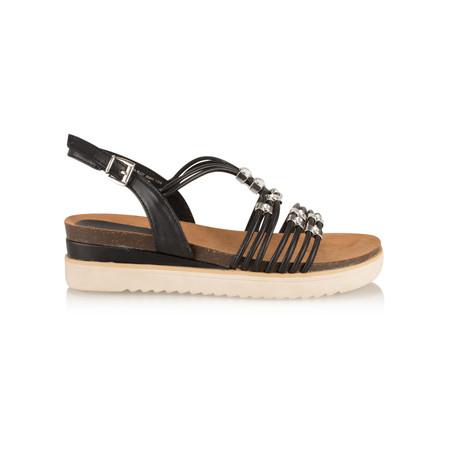 Marco Tozzi Chunky Flat Sandal - Black