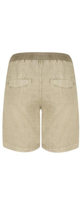 Sandwich Clothing Casual Linen Shorts Desert Sand