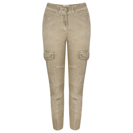 Sandwich Clothing Structured Casual Trouser with Pockets - Beige