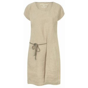 Sandwich Clothing Linen Tie Detail Dress