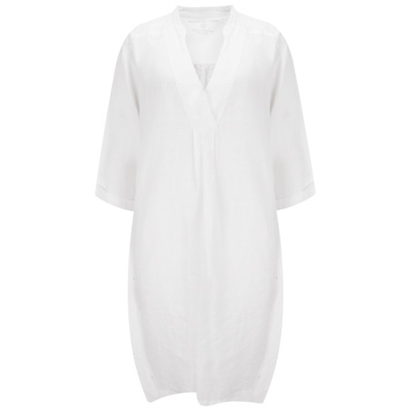 Sandwich Clothing Linen Tunic Dress - White