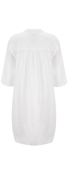 Sandwich Clothing Linen Tunic Dress Pure White