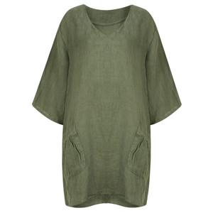 TOC  Dilys Linen Stripe Tunic Dress