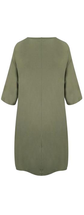 TOC  Dylann Oversized Jersey Dress Khaki