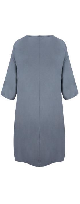 TOC  Dylann Oversized Jersey Dress Steel Blue
