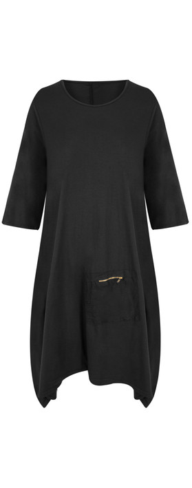 TOC  Dylann Oversized Jersey Dress Black