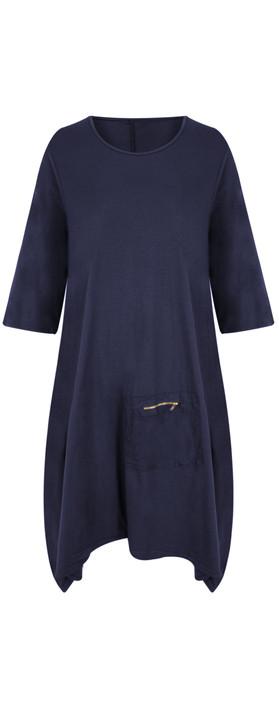 TOC  Dylann Oversized Jersey Dress Navy