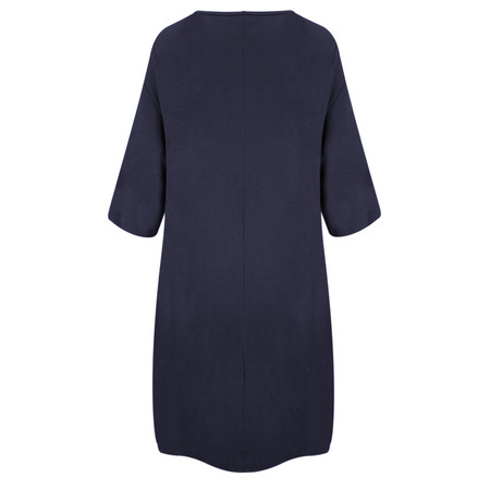 TOC  Dylann Oversized Jersey Dress - Blue