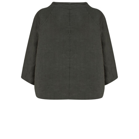 Arka Molly Linen Top - Black