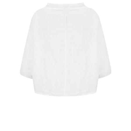 Arka Molly Linen Top - White