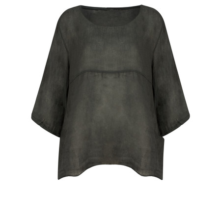 Arka Mindy Linen Top - Black