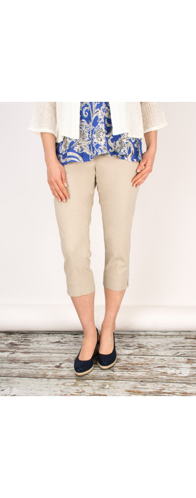 Sandwich Clothing Stretch Cropped Casual Trouser Desert Sand