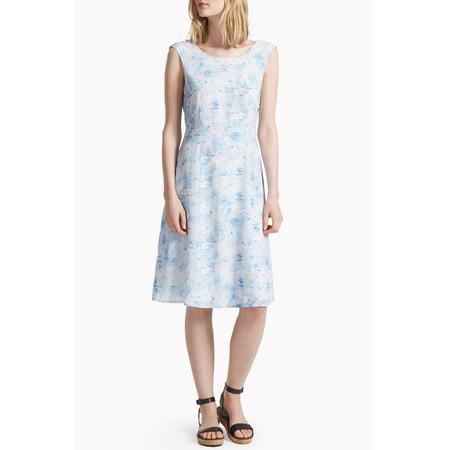 Great Plains Watercolour Haze Open Back Dress - Blue