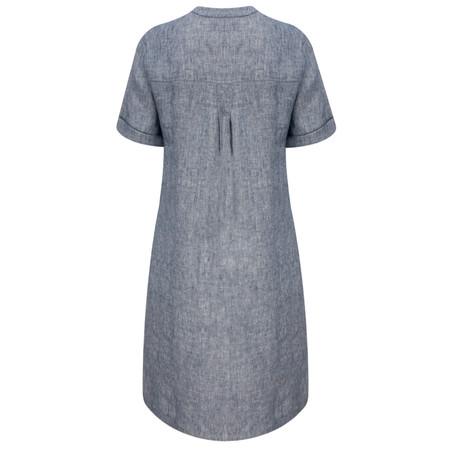 Great Plains Layla Linen Melange Smock Dress - Blue