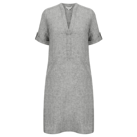 Great Plains Layla Linen Melange Smock Dress - Grey