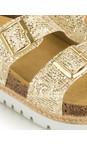 Tamaris  Gold Birki Flatform Glitter Sandal