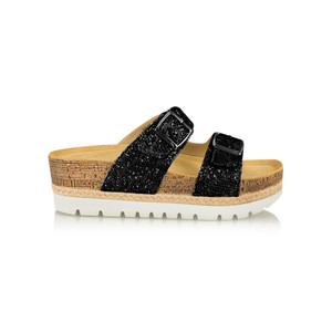 Tamaris  Birki Flatform Glitter Sandal