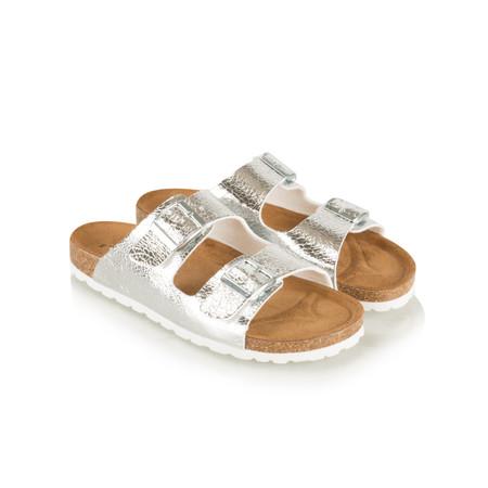 Tamaris  Birki Double Strap Sandal - Metallic