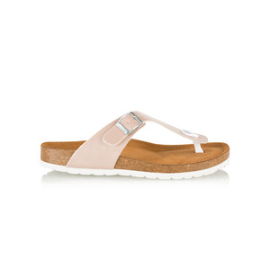 Tamaris  Birki Toe Post Metallic Sandal