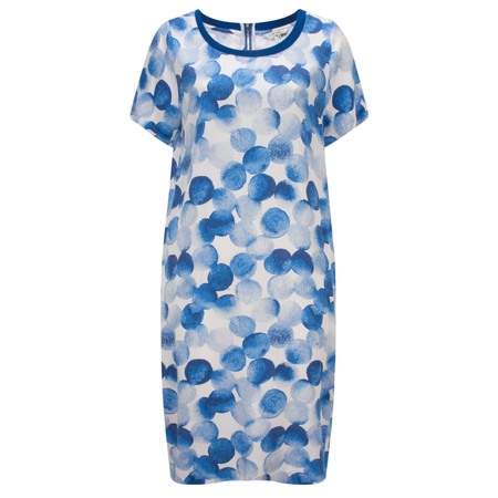 Sandwich Clothing Painted Dot Print Dress - Blue