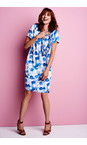 Sandwich Clothing Deep Blue Painted Dot Print Dress