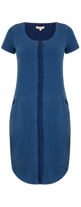 Sandwich Clothing  French Terry Jersey Dress Deep Blue
