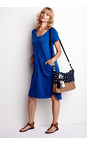 Sandwich Clothing Deep Blue  French Terry Jersey Dress