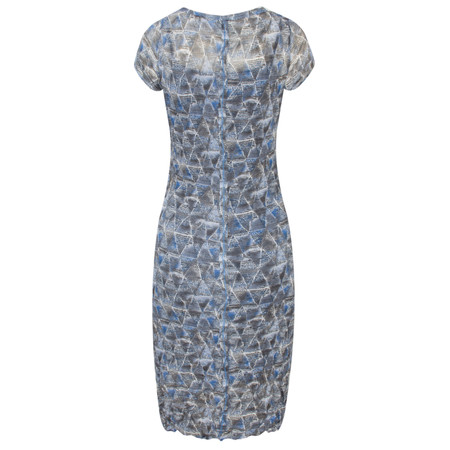 Sandwich Clothing Geometric Print Crinkle Dress - Blue