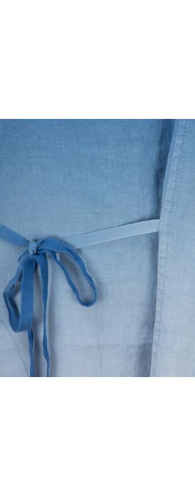 Sandwich Clothing Linen Dip Dyed Dress Deep Blue