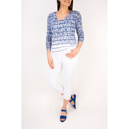 Sandwich Clothing V-Neck Striped Jumper - Blue