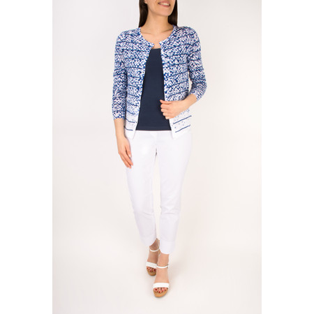 Sandwich Clothing Dots and Stripes Fitted Stripe Cardigan - Blue