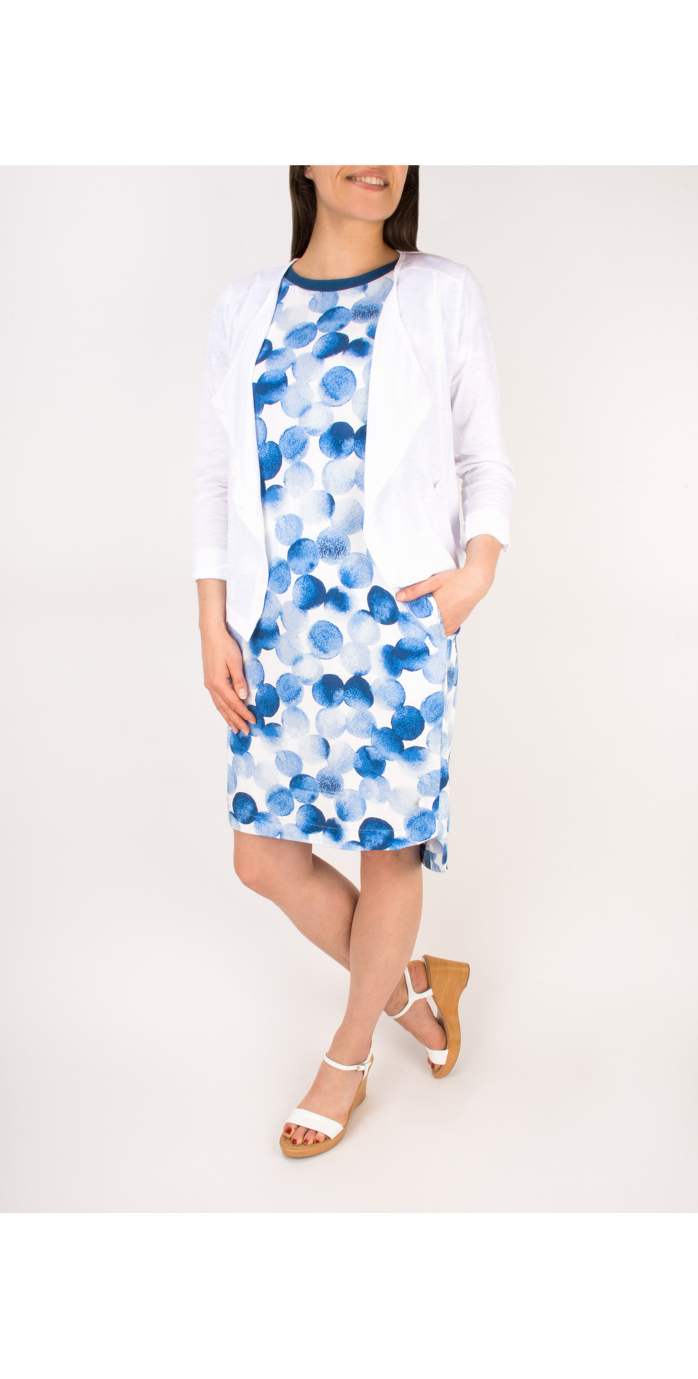 Painted Dot Print Dress main image