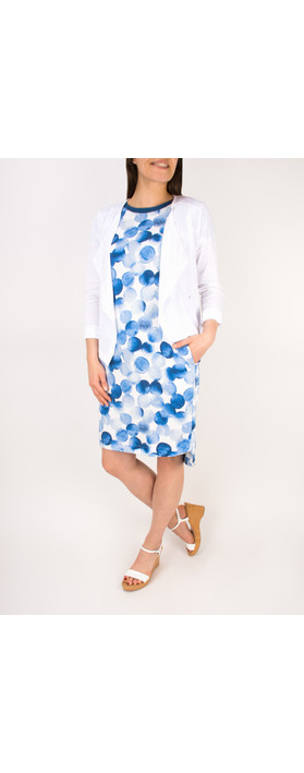 Sandwich Clothing Painted Dot Print Dress Deep Blue