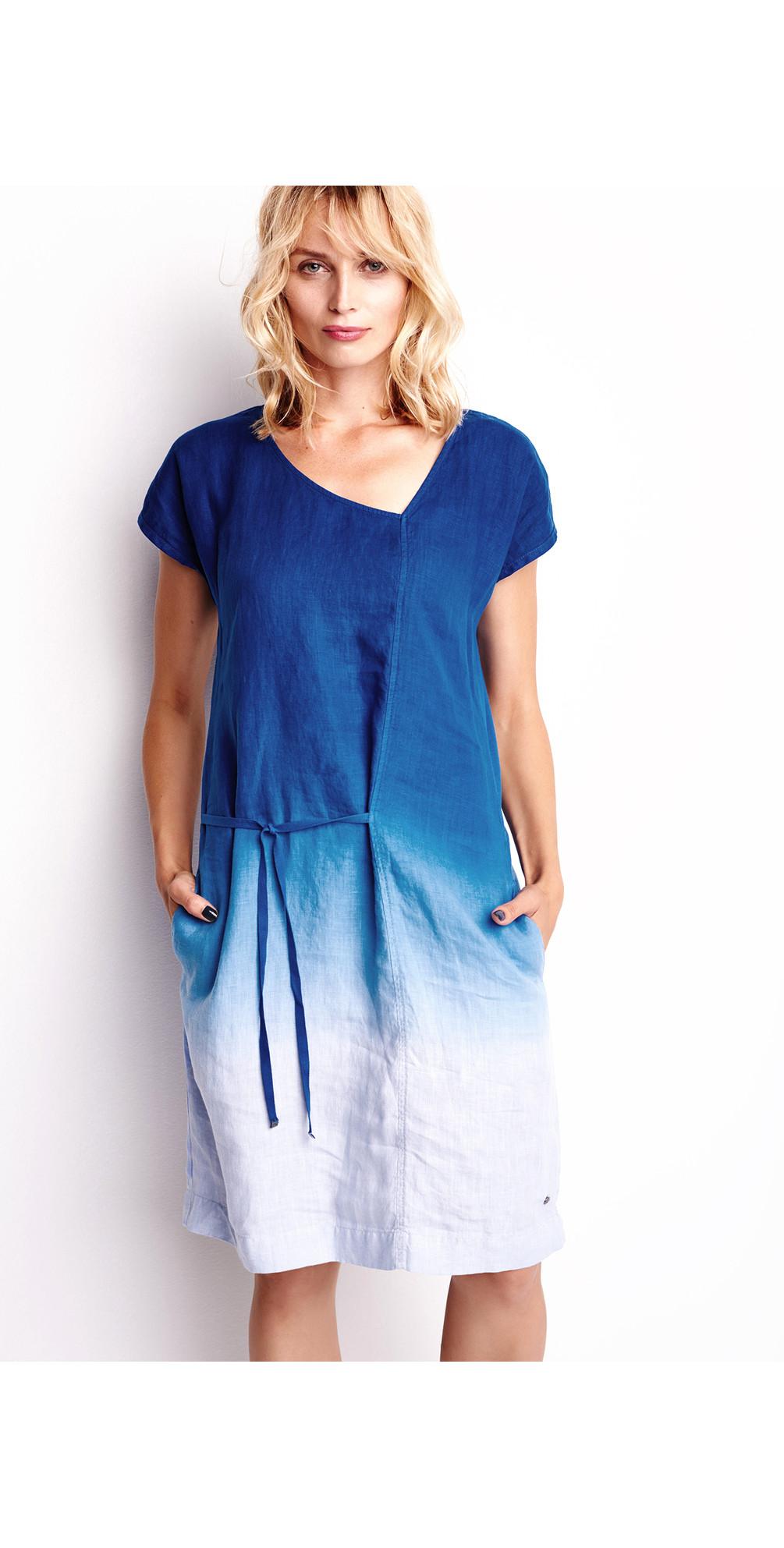 Linen Dip Dyed Dress main image