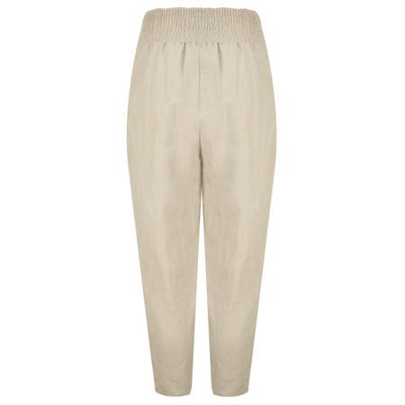 Masai Clothing Linen Pen Trousers - Beige