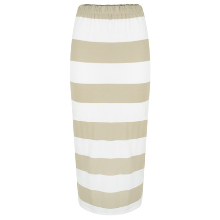 Masai Clothing Striped Salini Skirt - Brown