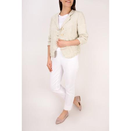 Grizas Short Linen Top - White
