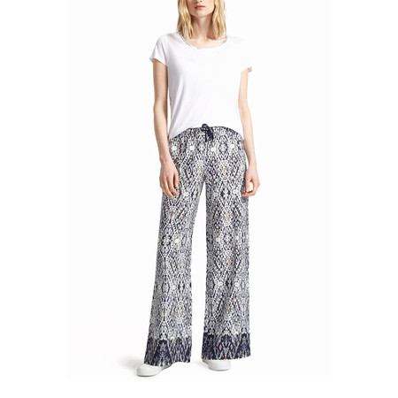 Great Plains Diamond Daze Tie Waisted Trouser - Blue