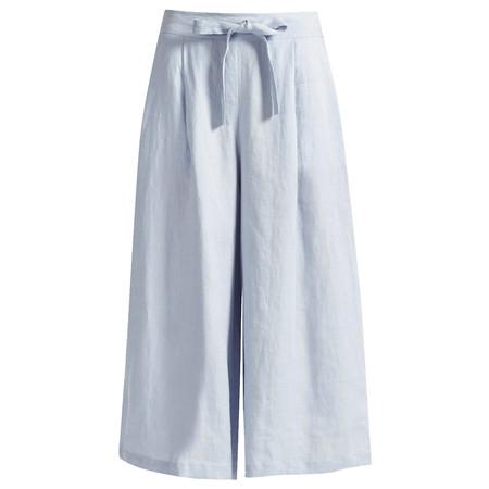 Great Plains Lindisfarne Linen Wide Leg Trouser - Blue