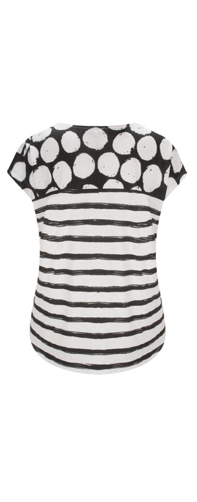 Sandwich Clothing Patterned Jersey T-shirt Pure White