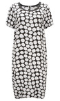 Sandwich Clothing Pure White Painted Dot Print Dress