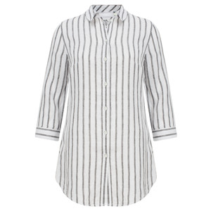 Sandwich Clothing Linen Striped Shirt