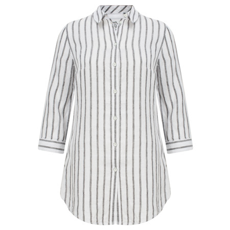 Sandwich Clothing Linen Striped Shirt - Black