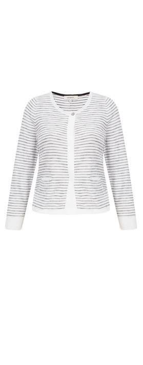 Sandwich Clothing Striped Pattern Cardigan Pure White